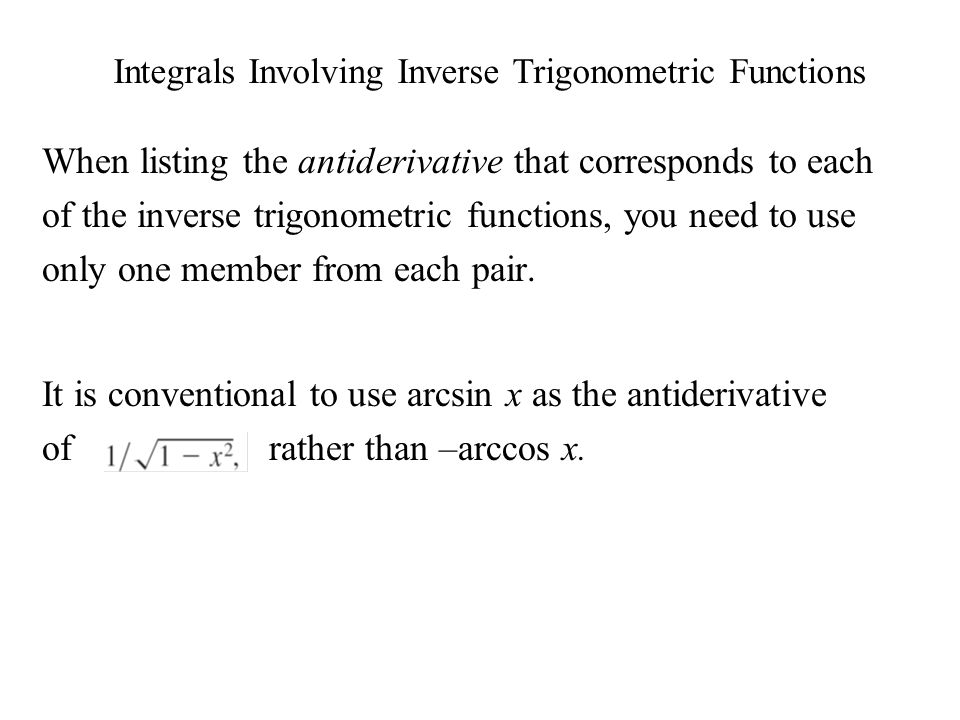 how to find the integral of arccos x