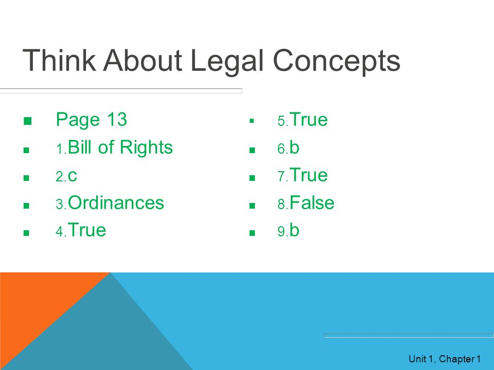 Think About Legal Concepts