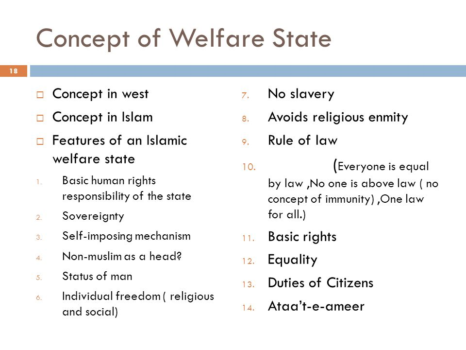 essay on the concept of welfare state Problems and difficulties when conceptualizing the welfare state the corporatist welfare regime it is within this system that the concept of social rights has.