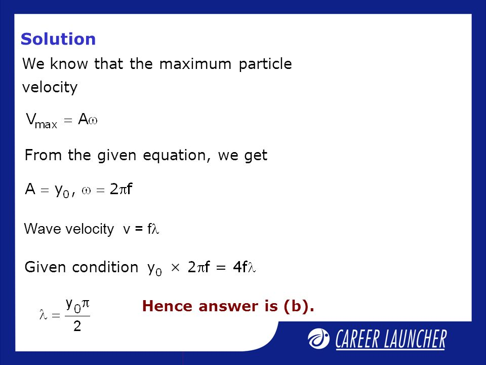 how to find maximum velocity of a particle