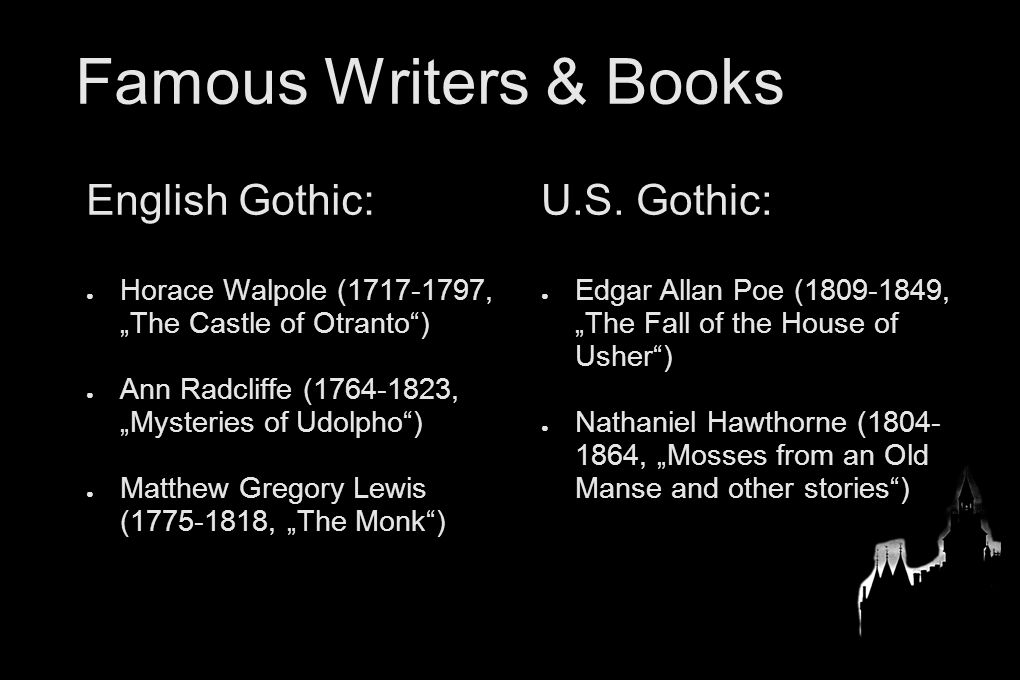 english on gothic stories Two articles published in the irish journal of gothic and horror studies (2006  and  reeve's the old english baron: a gothic story (1777), is rather more.