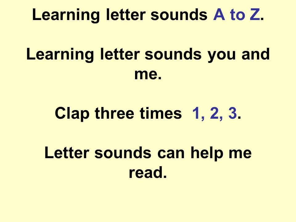Learning Letter Sounds A To Z Learning Letter Sounds You And Me