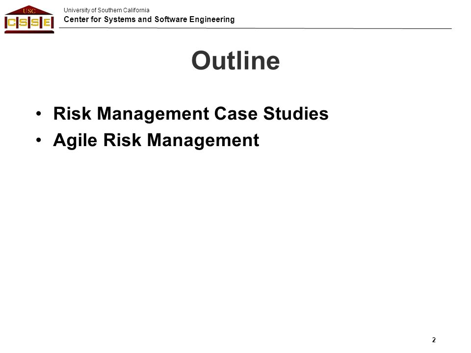 risk management case study for students The fundamental problem in this case study was lack of appropriate risk management the analysis of the two modes of mis deployment.