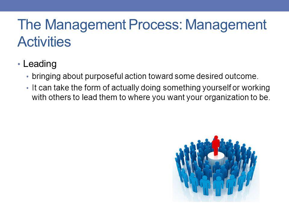 The Management Process: Management Activities