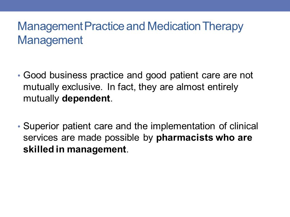 Management Practice and Medication Therapy Management
