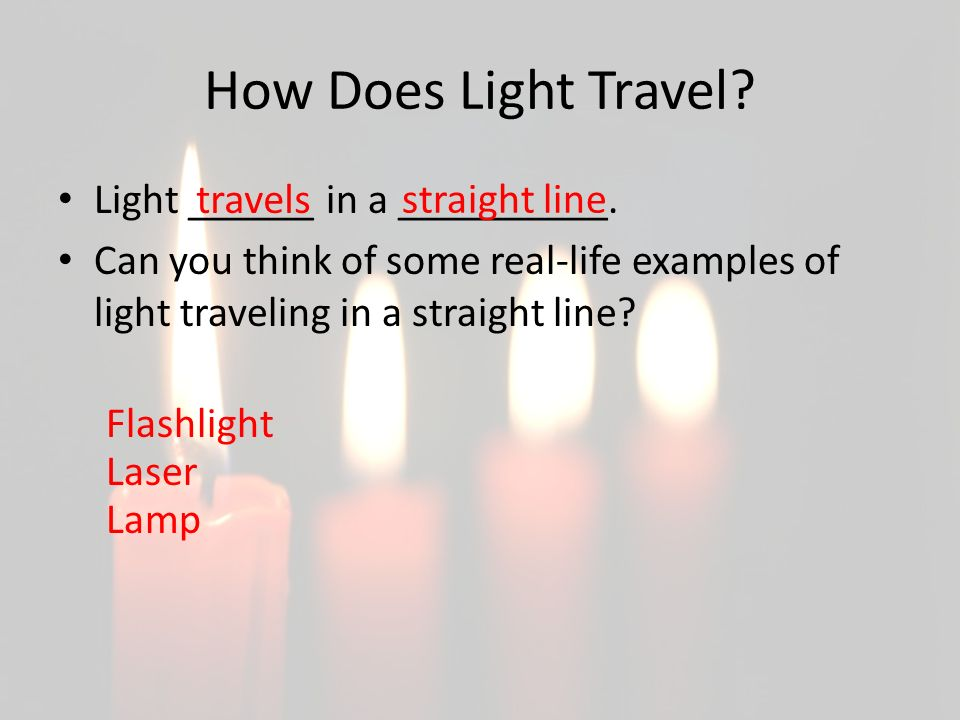 How Does Light Travel Light ______ in a __________.