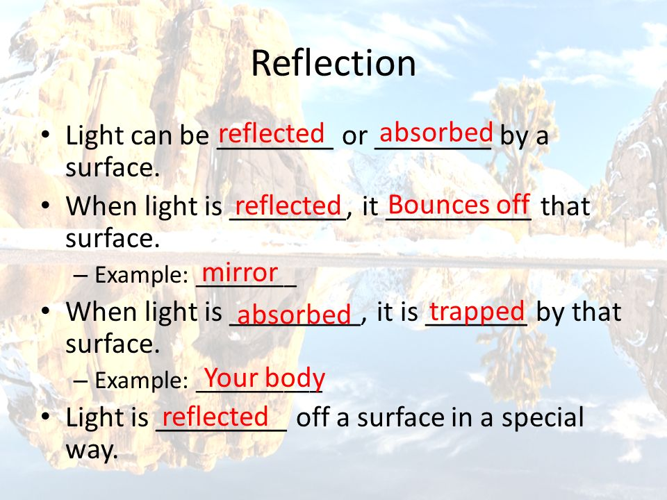 Reflection reflected absorbed