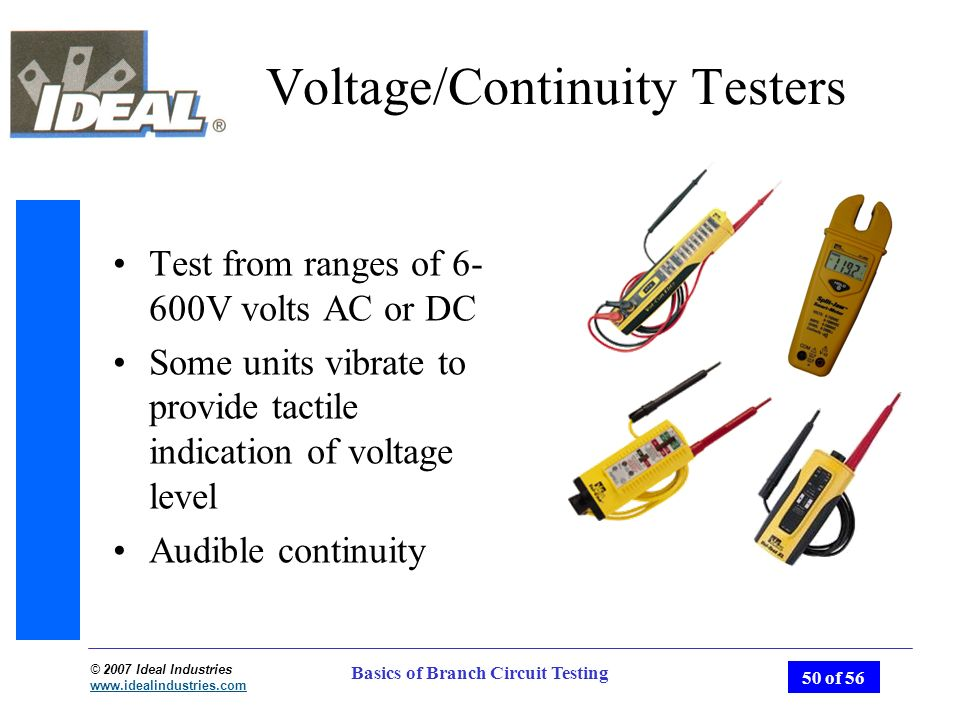 Ideal Receptacle Circuit Tester Voltagecontinuity Pricefallscom