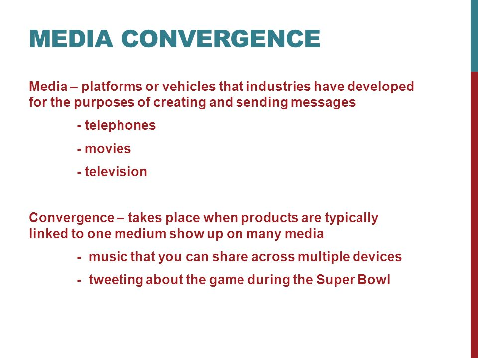 importance of media Media are the collective communication outlets or tools used to store and deliver information or data it is either associated with communication media, or the specialized mass media communication businesses such as print media and the press, photography, advertising, cinema, broadcasting (radio and television), publishing and point of sale.
