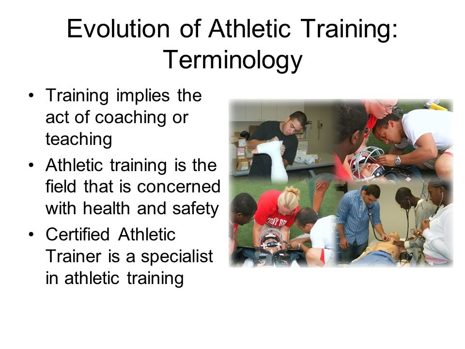 the evolution of athletic training education Locker room talk: how male athletes portray female athletic trainers date: july 13, 2010 source: north carolina state university summary: a college quarterback coming into the locker room with a dislocated shoulder wouldn't care whether the athletic trainer taking care of him is male or female -- or would he.