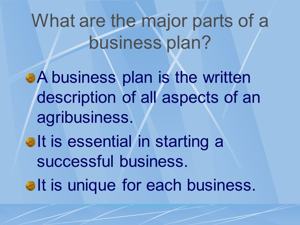 Captivating What Are The Major Parts Of A Business Plan