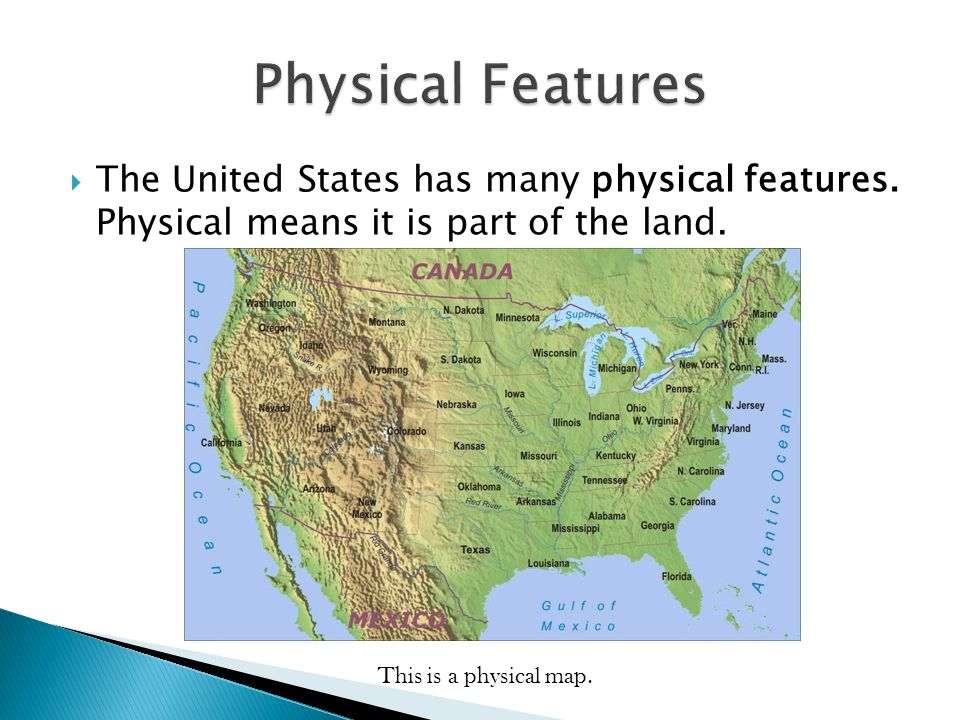 Locations Geographical Understandings Ppt Video Online Download - Physical features in the united states