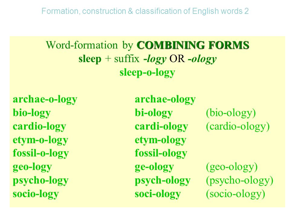 words and word formation in english language Borrowing is taking a word from one language and incorporating it into another  the english language has been very absorbent and took over words from all.