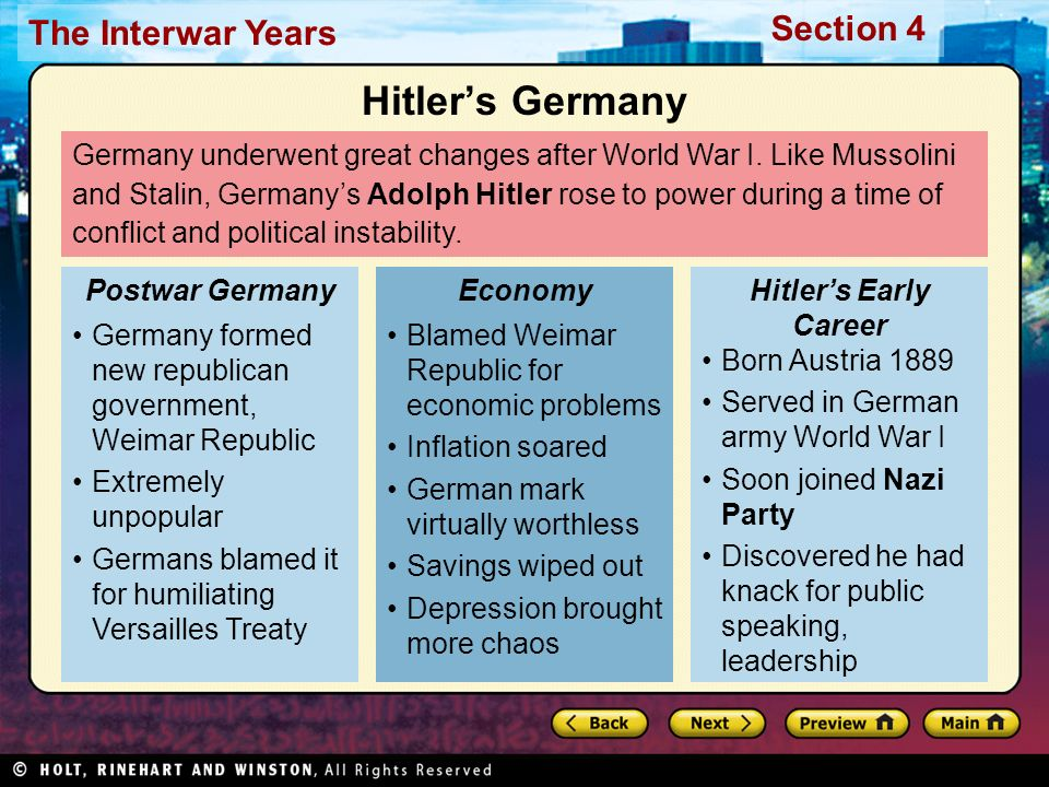 the political and economic chaos that the treaty of versailles brought on germany An essay or paper on the peace treaty of versailles the treaty of versailles was intended to be a peace agreement between the allies and the germans versailles created political discontent and economic chaos 1in germany.