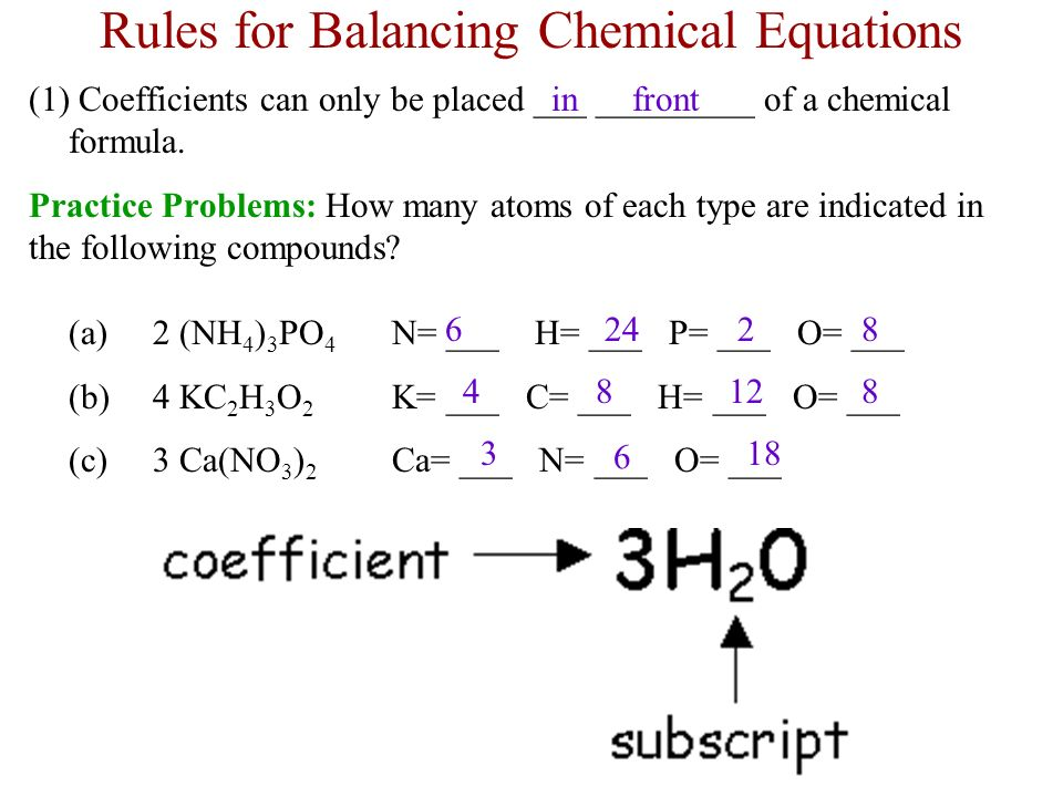 Balancing chemical equations worksheet middle school answers