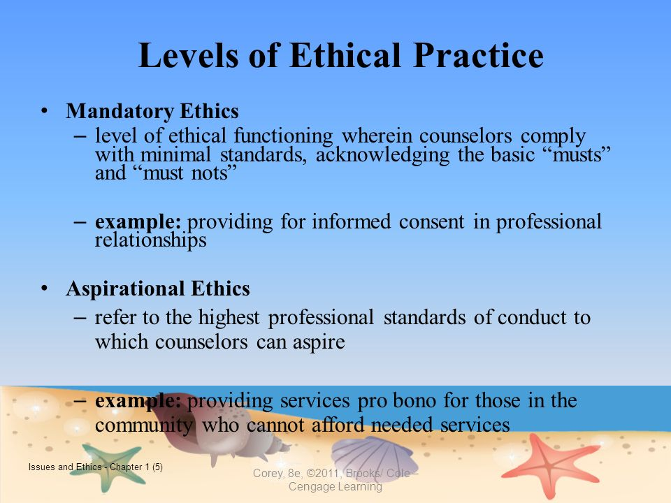 ethical and legal level of counseling Deliver a range of professional counseling and consultation  coun 6230 legal and ethical issues in counseling  appropriately and at a professional level.