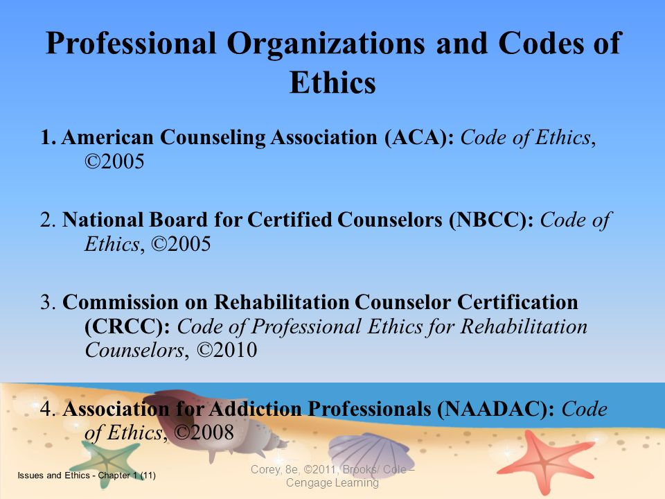 aca codes of ethics and amhca Code of ethics on therapists' impairment, burnout and self care new users codes of ethics on therapists' impairment, burnout and self care the following codes of ethics are cited: apa, nasw, apa, aca, amhca, aamft, camft.