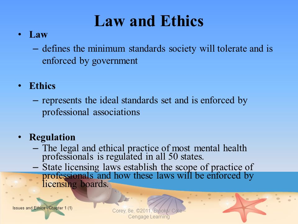 Legal and ethical practice for learning disability