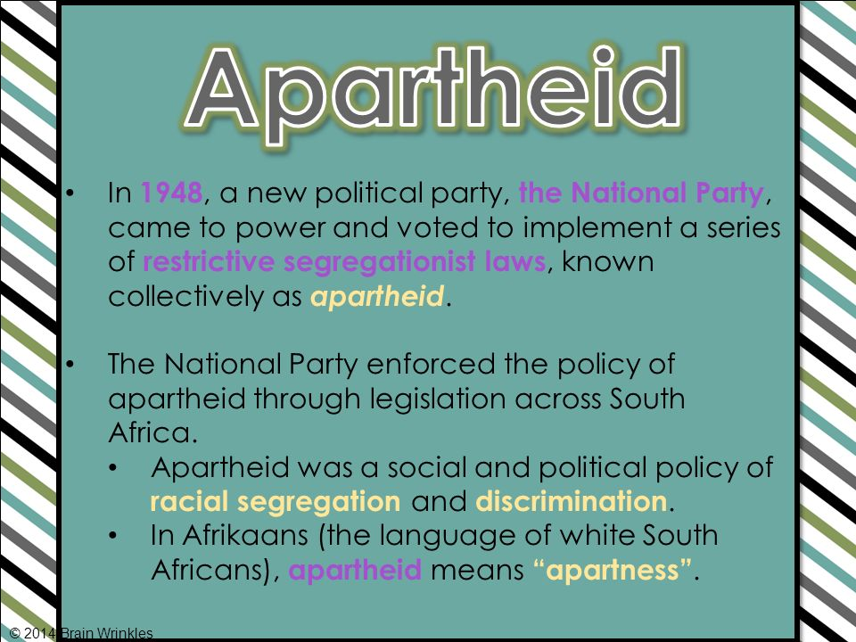An analysis of apartheid in modern south africa
