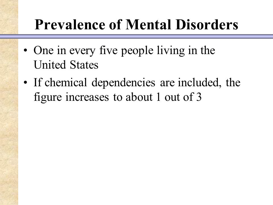 diagnosis of mental disorders in the united states Adhd is the most extensively studied pediatric mental health disorder, yet controversy and public debate over the diagnosis and medication treatment of the disorder continue to exist 1 questions and concerns are raised by professionals, media commentators, and the public about the possibility of.