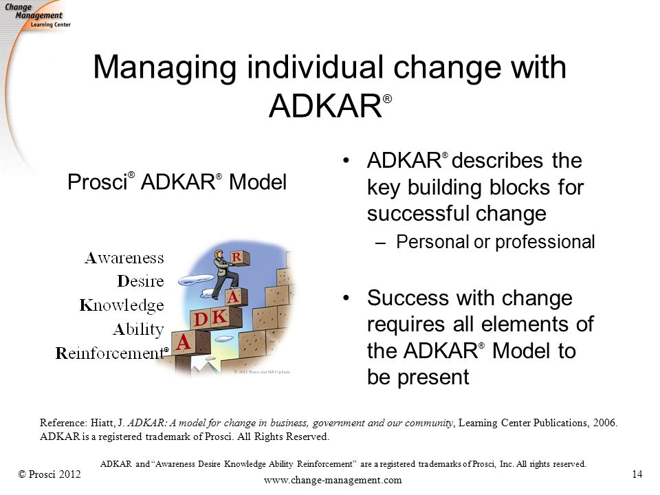 adkar model of change in nursing