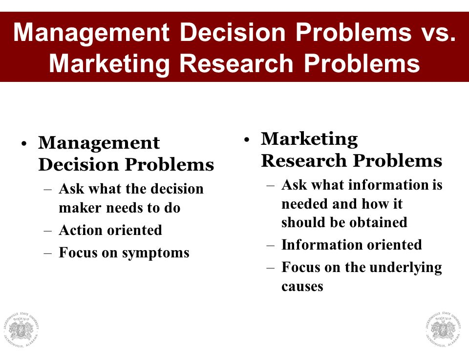defining management and research problems This is an excerpt from applied research and evaluation methods in recreation by diane c blankenship scientific research involves a systematic process that focuses on being objective and gathering a multitude of information for analysis so that the researcher can come to a conclusion this process.