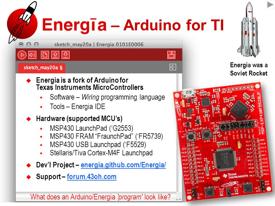 Energia u2013 Arduino for TI  sc 1 st  SlidePlayer : arduino wiring language - yogabreezes.com