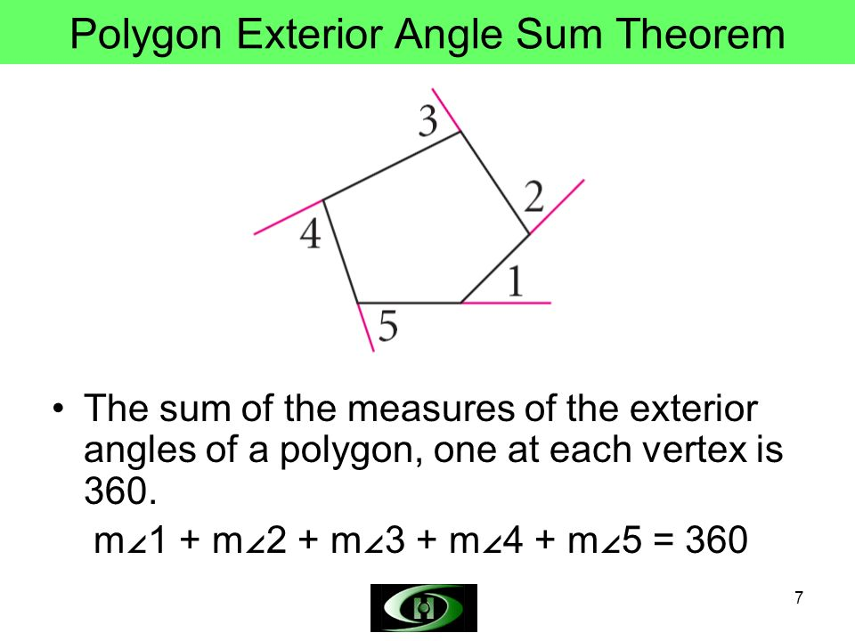 Objectives define polygon concave convex polygon and for Exterior angle theorem