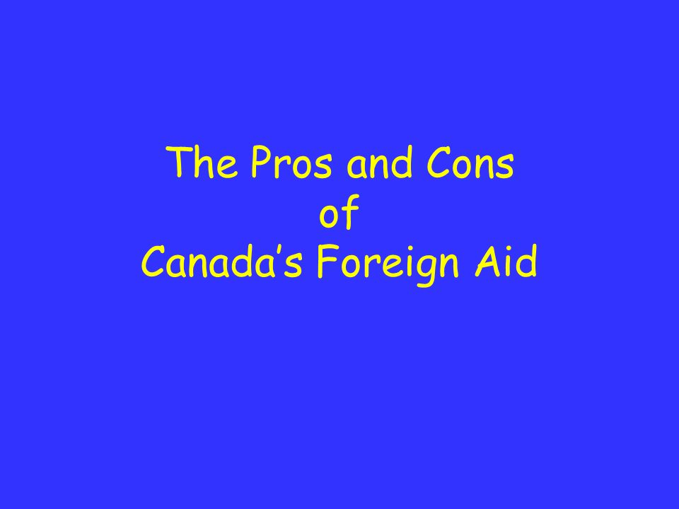 foreign aid pros cons essay Debating pros & cons of us foreign aid published by tadias magazine february 27th, 2017 in opinion closed.