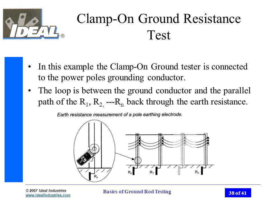 Basics of ground rod testing ppt video online download clamp on ground resistance test ccuart Images