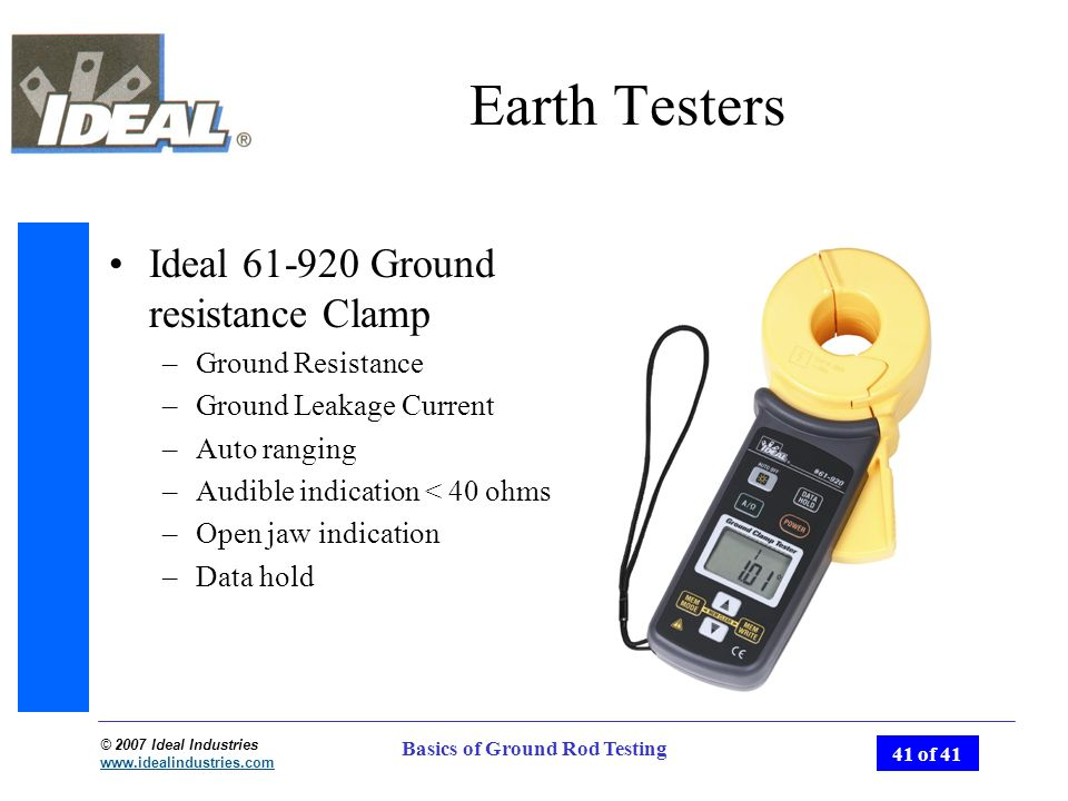 Ground Resistance Testers Hauppauge Ny : Basics of ground rod testing ppt video online download