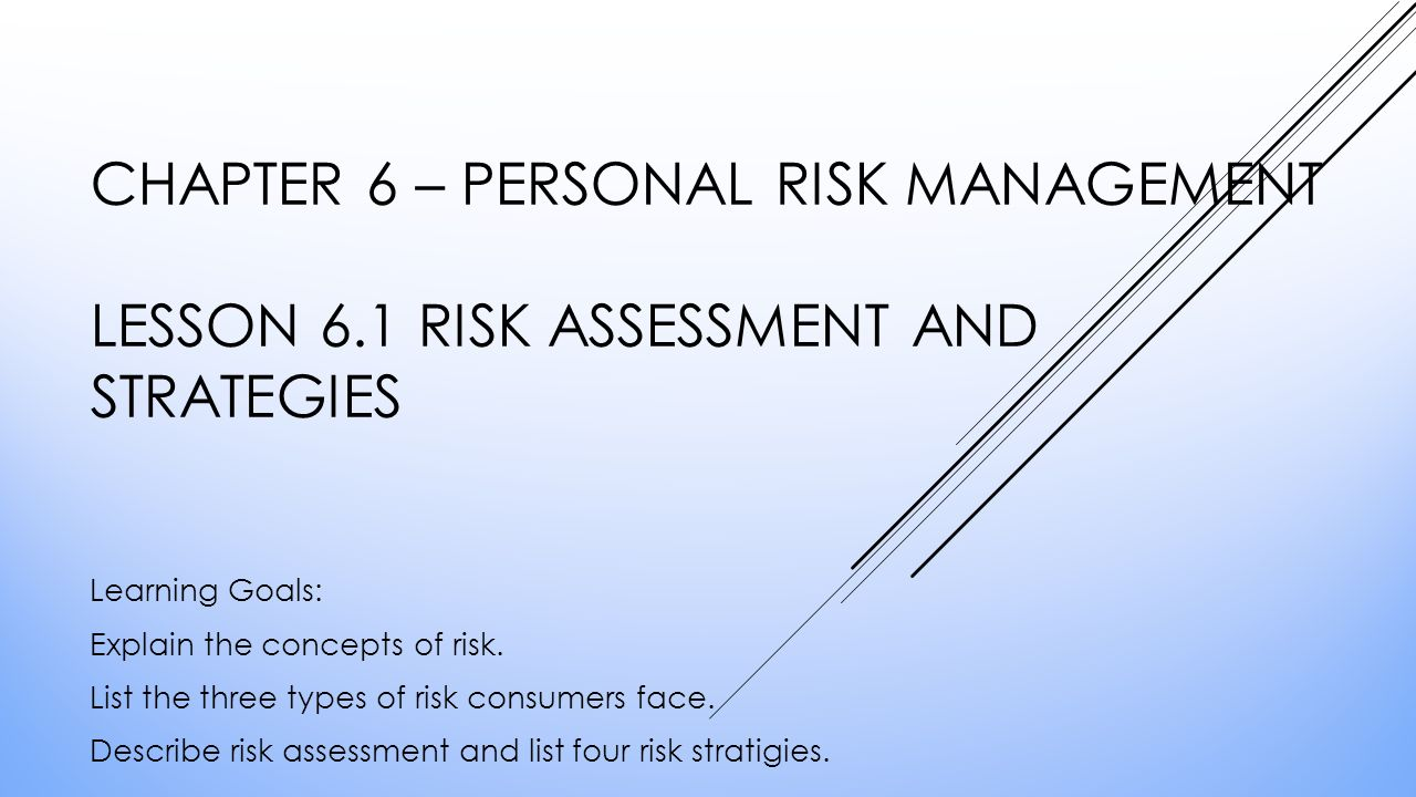 chapter 4 risk management Executive summary risk management is an important component of the overall operation of the health center it aids organizations in providing quality services while.