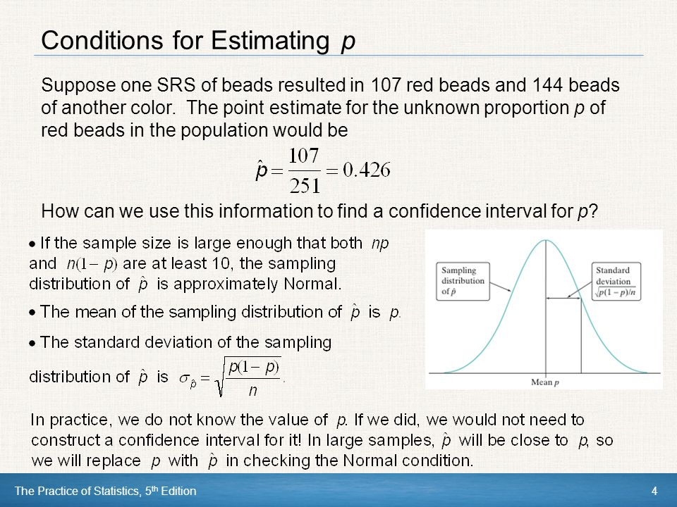 Chapter 8 estimating with confidence ppt download conditions for estimating p ccuart Gallery
