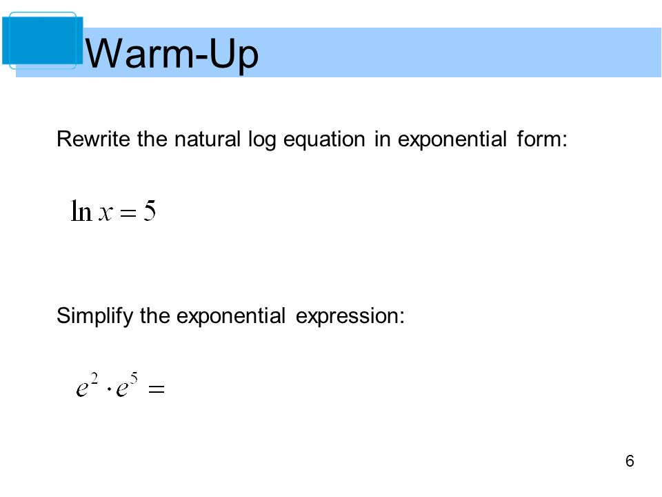 Rewrite The Equation In Exponential Form - Jennarocca