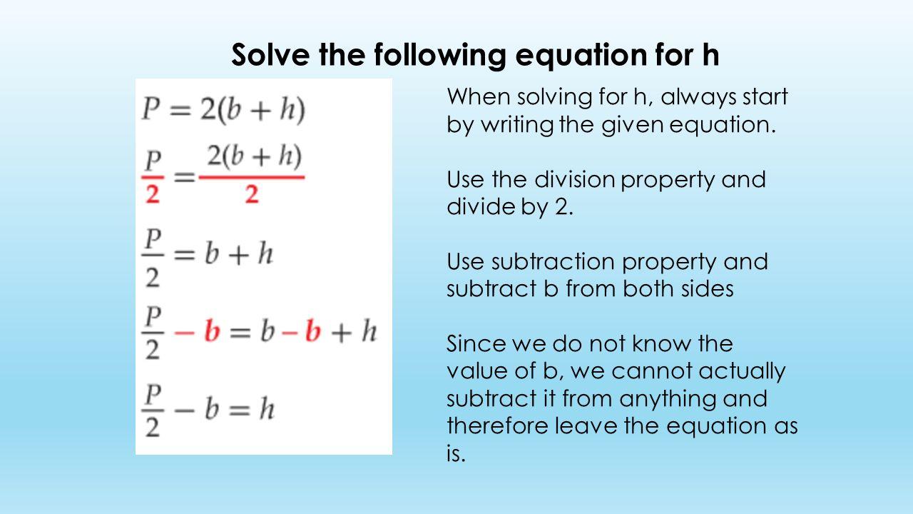 Workbooks » Solving Literal Equations Worksheets - Free Printable ...