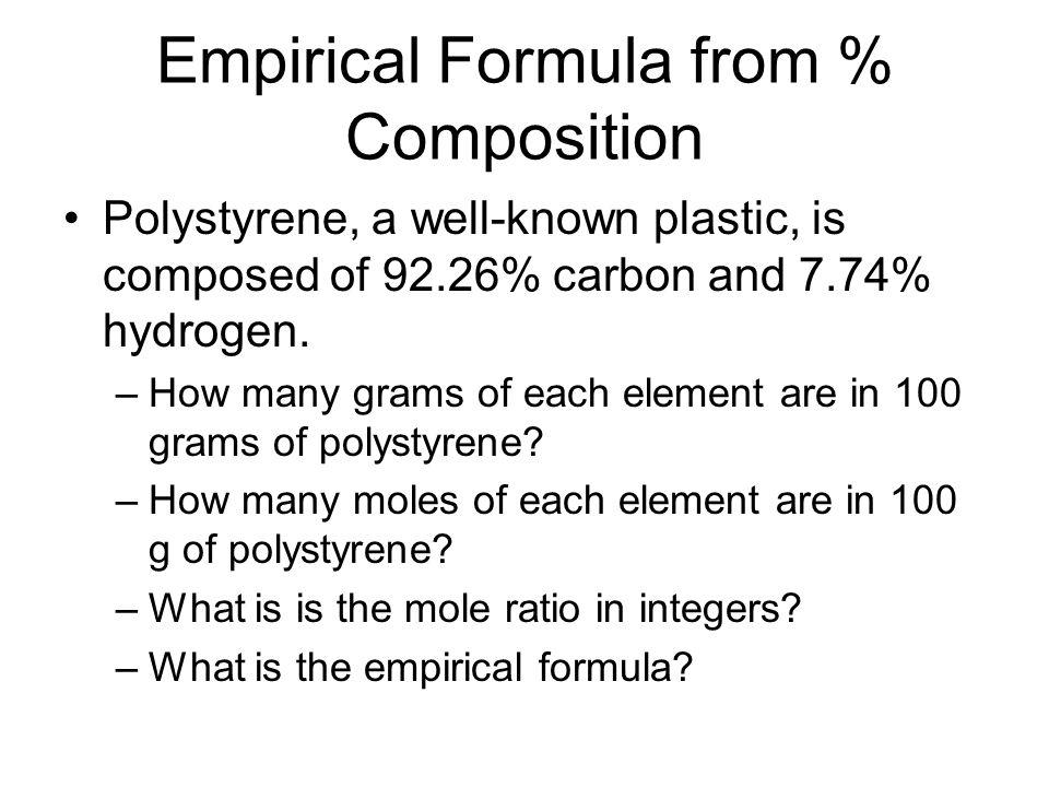 Quantitative Composition of Compounds - ppt download