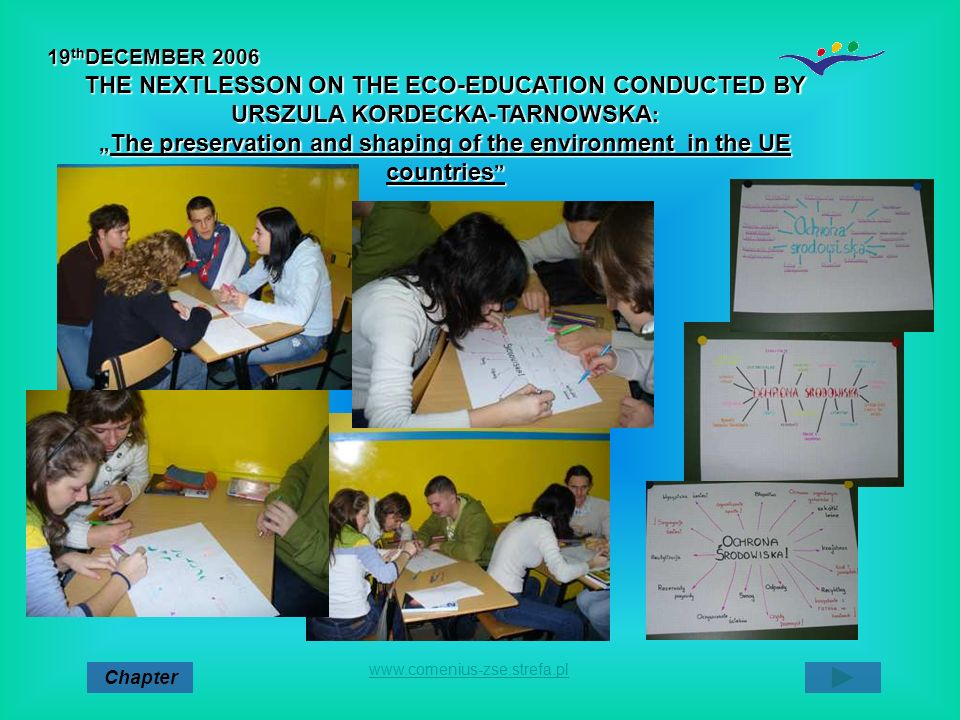 """The preservation and shaping of the environment in the UE countries"