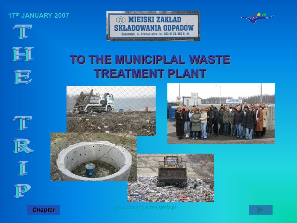 TO THE MUNICIPLAL WASTE TREATMENT PLANT
