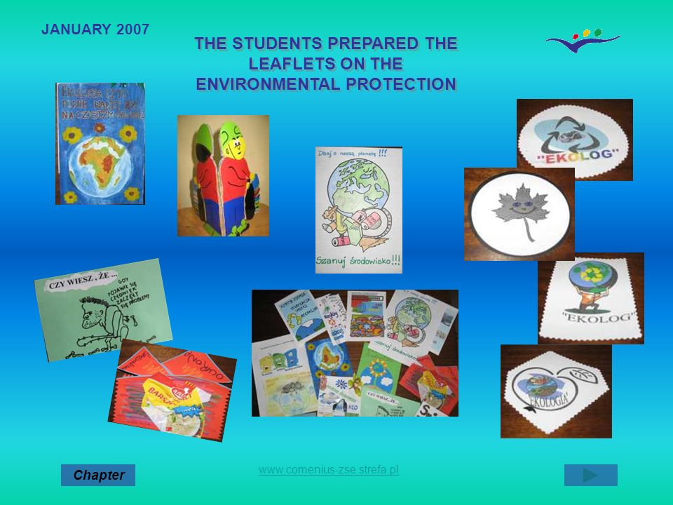 THE STUDENTS PREPARED THE LEAFLETS ON THE ENVIRONMENTAL PROTECTION