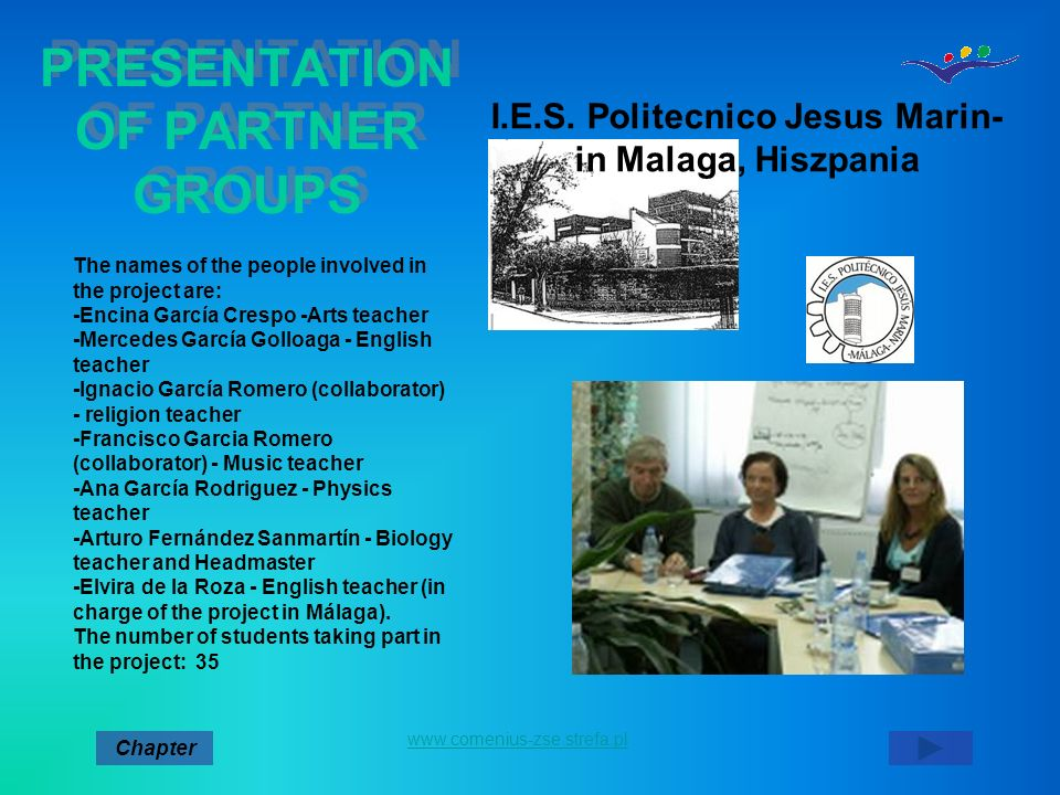 PRESENTATION OF PARTNER GROUPS