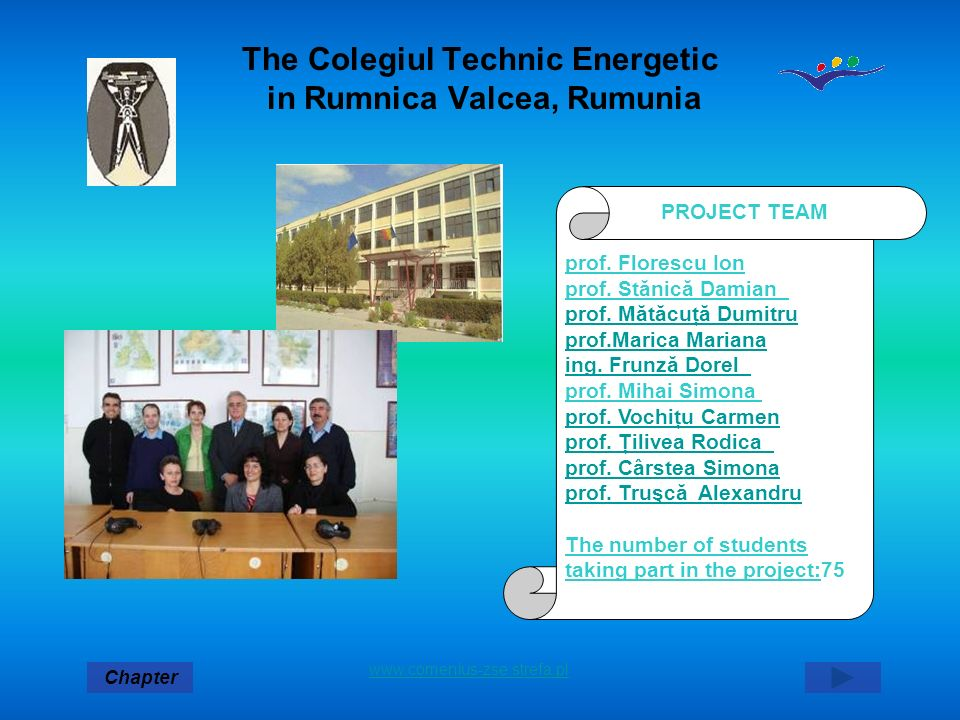 The Colegiul Technic Energetic in Rumnica Valcea, Rumunia