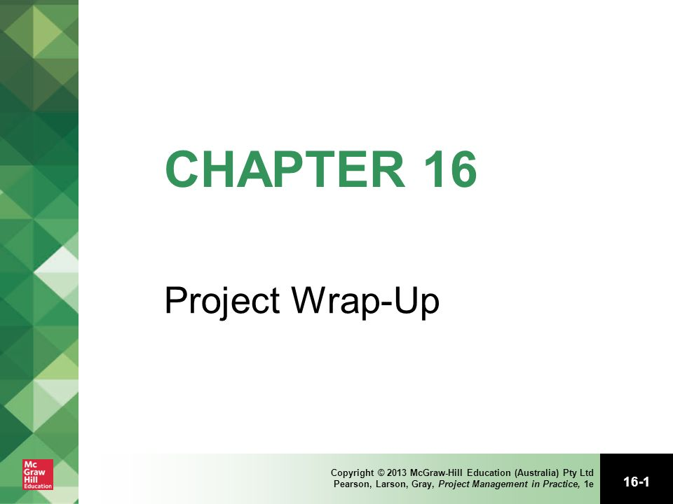 project wrap up