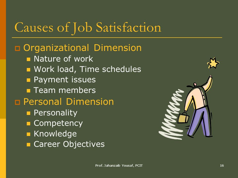 nature and cause of job satisfaction Hypothesis 4: ho: job nature does not influence job satisfaction  that is, job  satisfaction presents a set of factors that cause a feeling of satisfaction blum and .