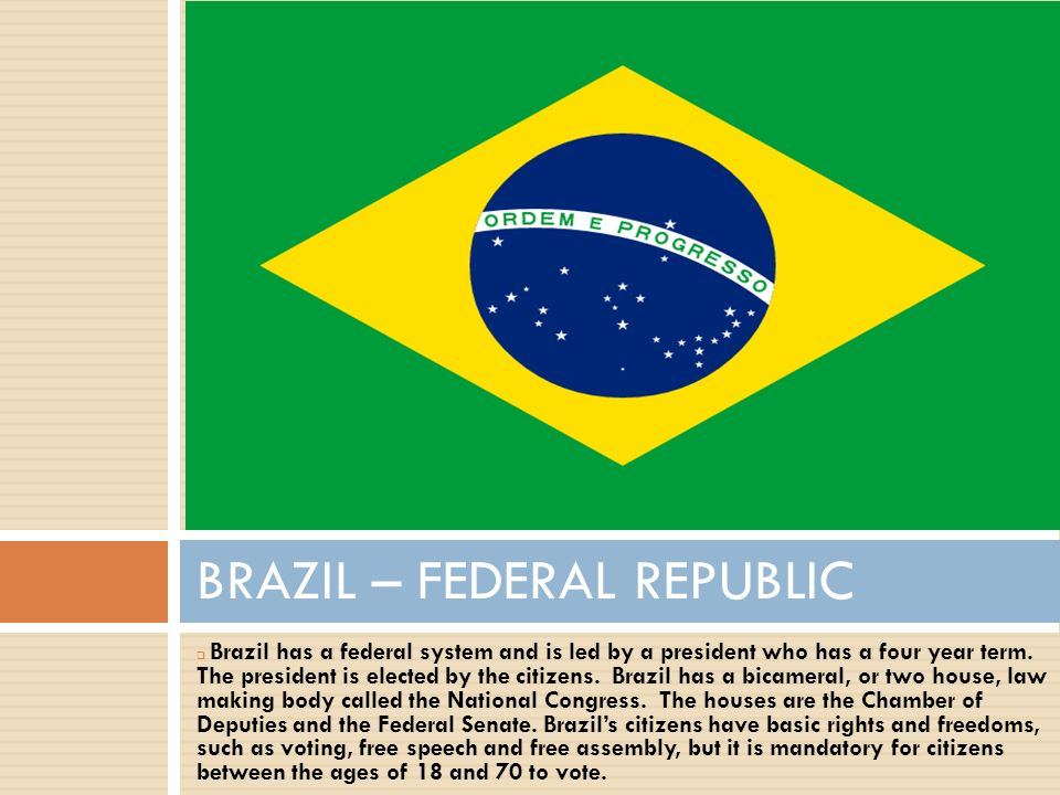 GOVERNMENT OF LATIN AMERICA Ppt Download - Federative republic of brazil map