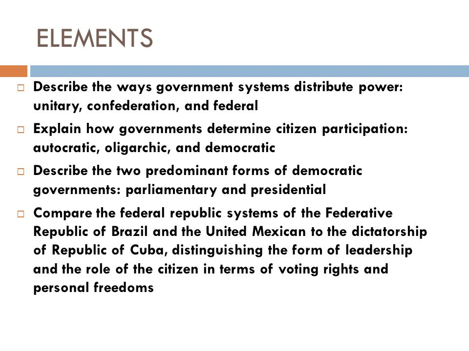 describing the american federal system of government
