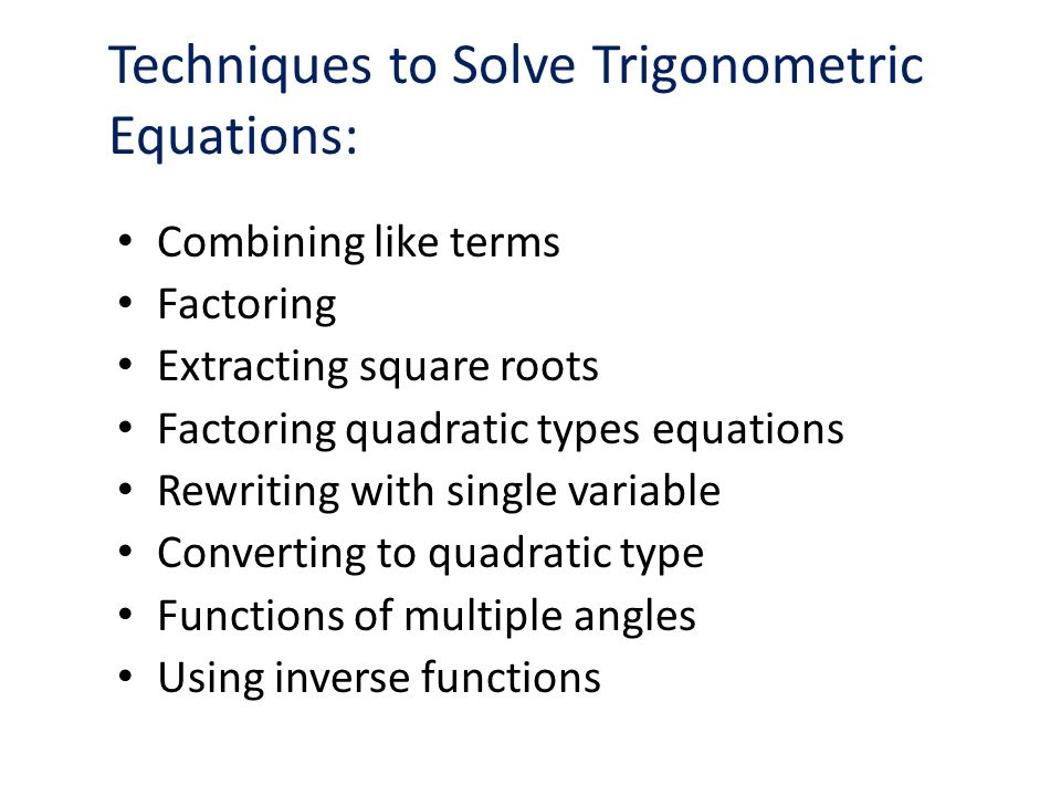 solving inverse trigonometric equations pdf