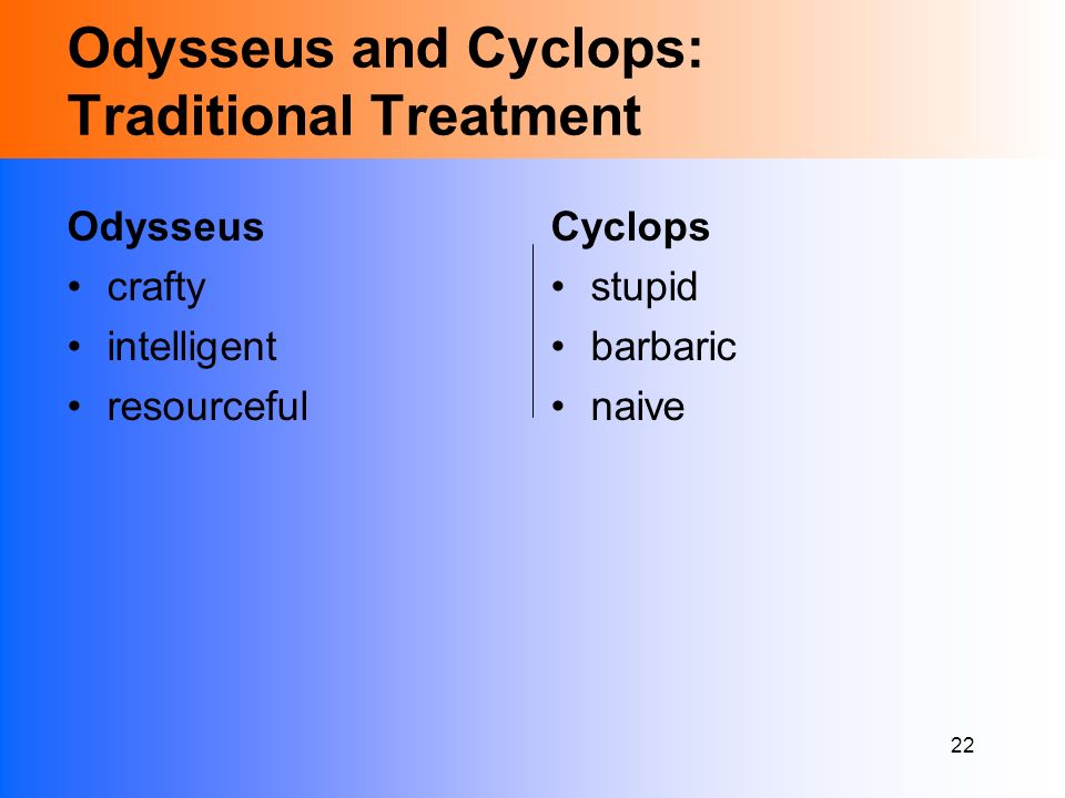odysseus resourceful The odyssey reading test reveal answers:  the hero odysseus' long-awaited return from the trojan war to his  he needs to be cunning and resourceful.