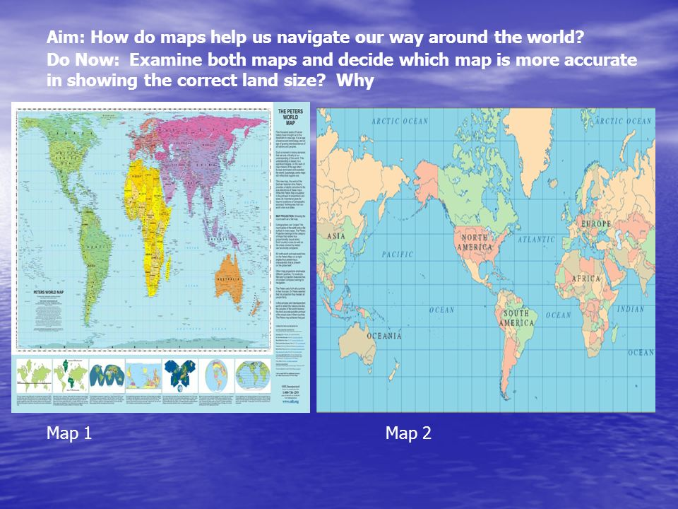 Aim: How do maps help us navigate our way around the world? - ppt ...