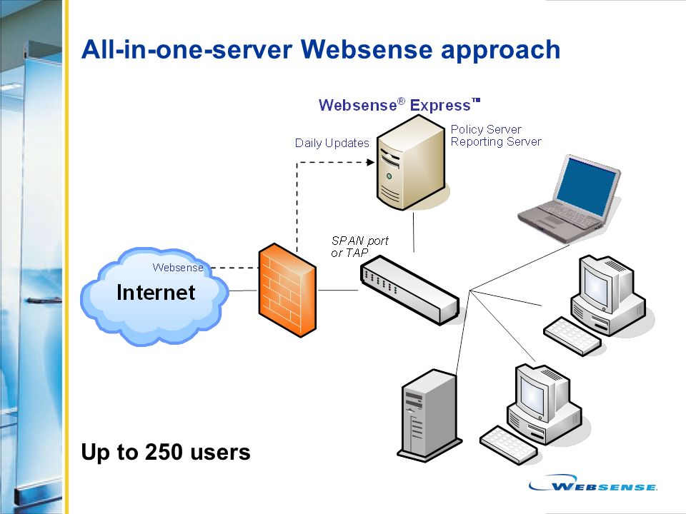 All-in-one-server Websense approach