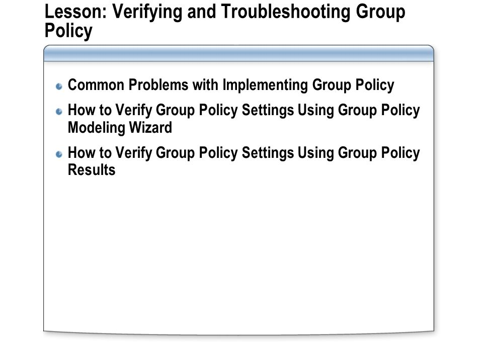 how to see group policy results